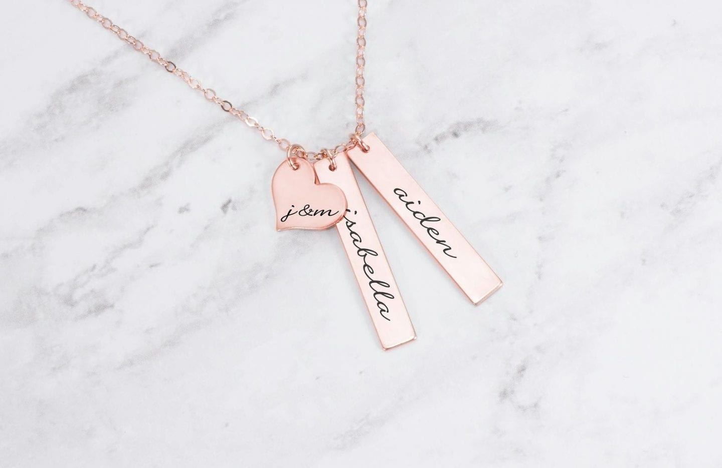 Initial Jewelry by popular San Francisco fashion blog, Just Add Glam: image of a personalized necklace.