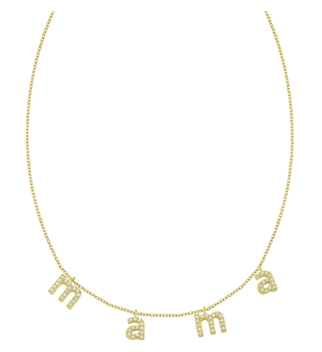 Initial Jewelry by popular San Francisco fashion blog, Just Add Glam: image of a its all in a name necklace.