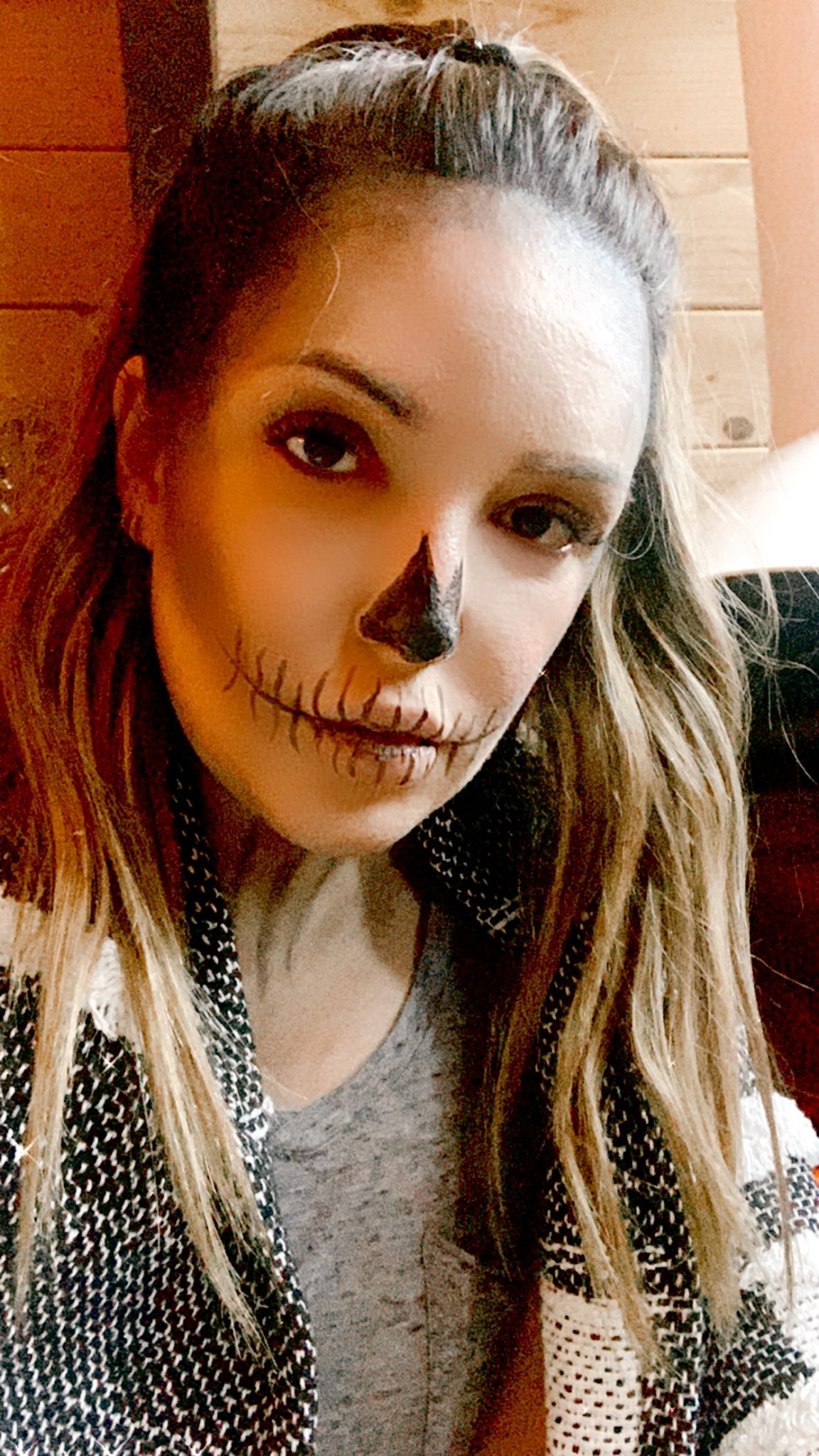 soft neutrals skeleton makeup